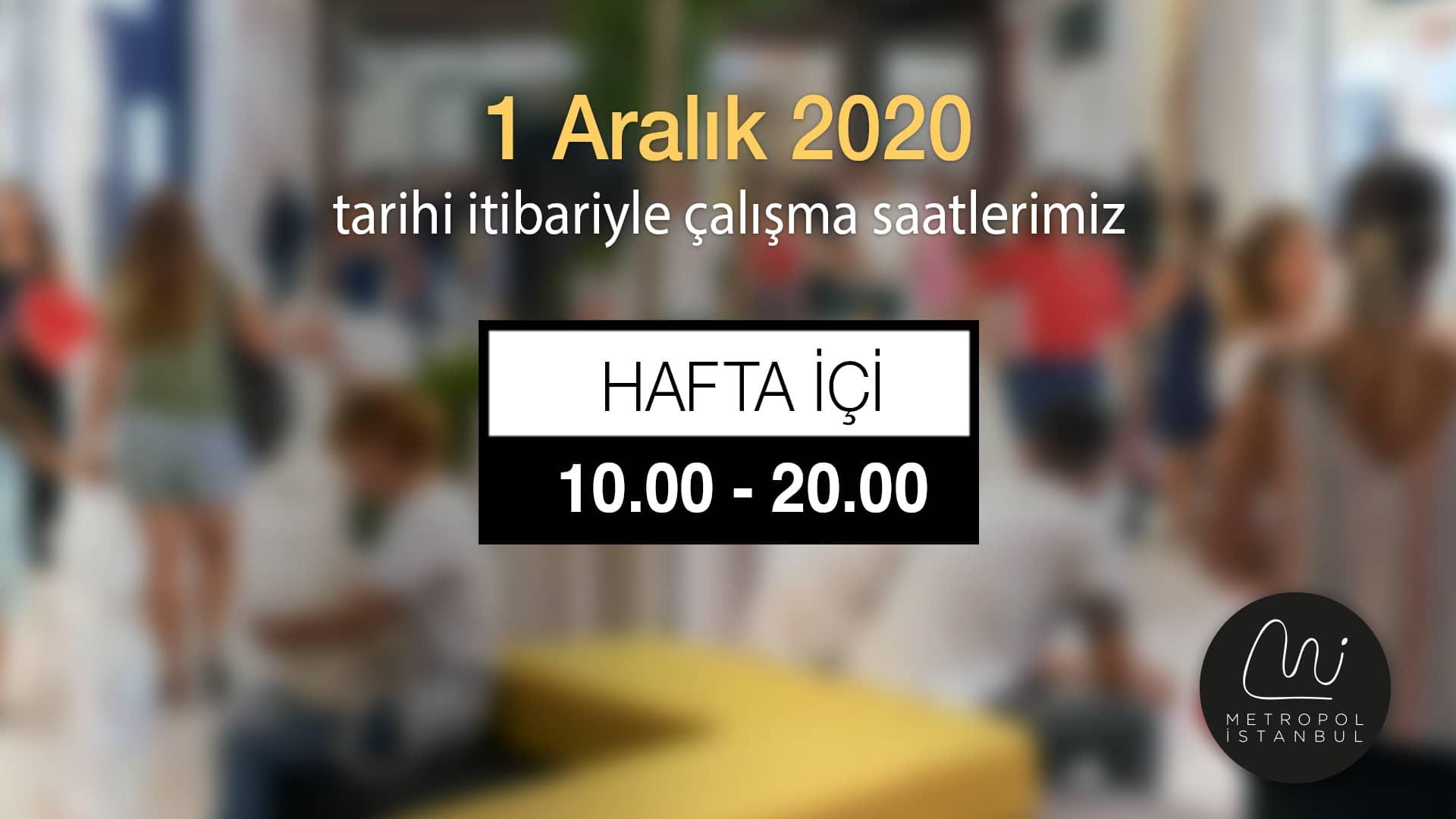 Metropol İstanbul AVM Çalışma Saatleri