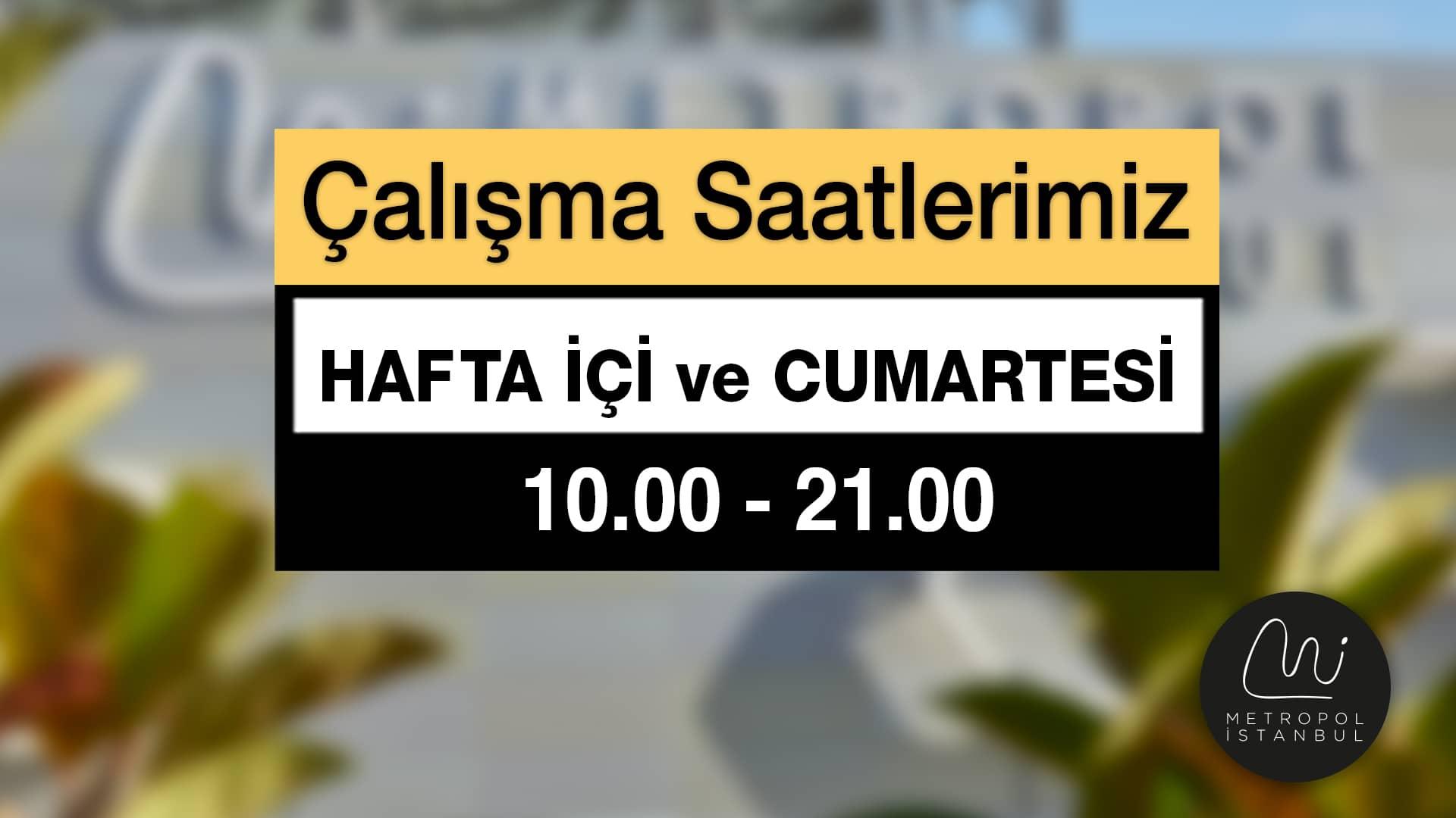 Metropol İstanbul Çalışma Saatleri