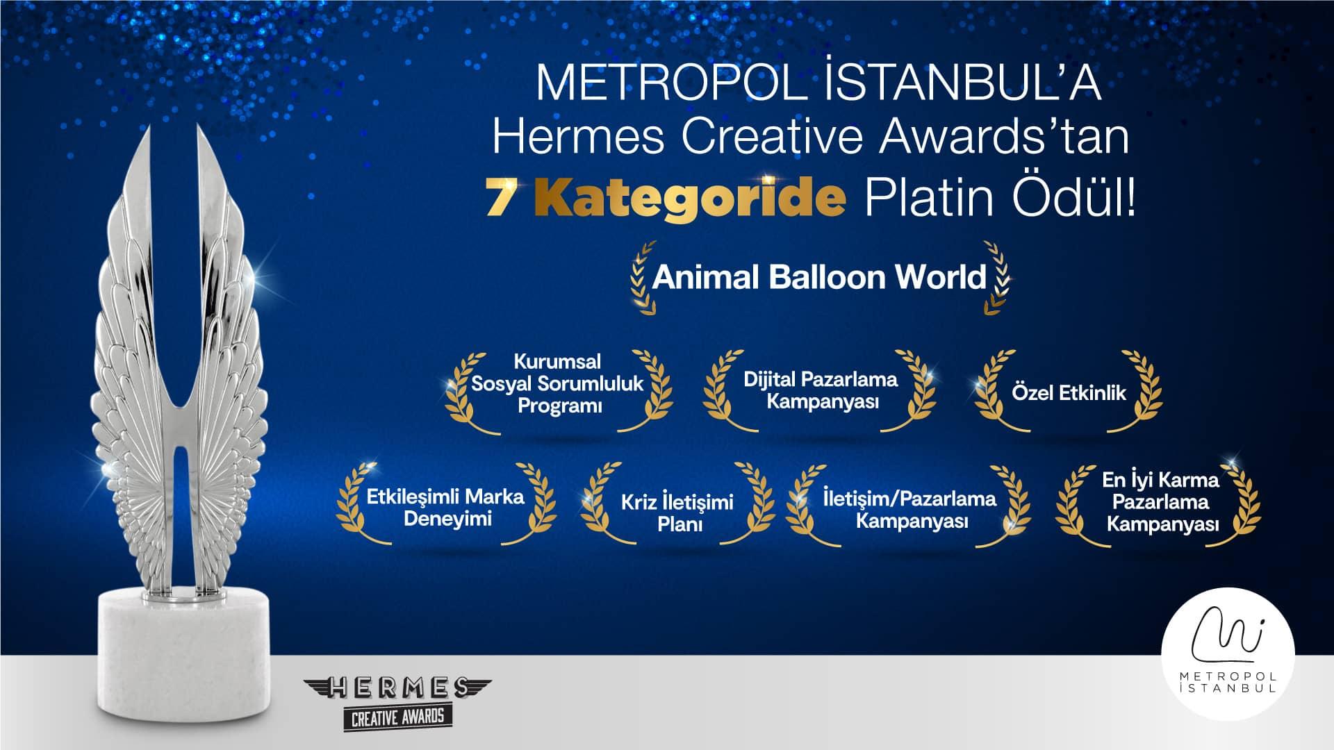 Metropol İstanbul, Hermes Ödülleri'nde 7 Ayrı Kategoride Platin Ödül Kazandı!