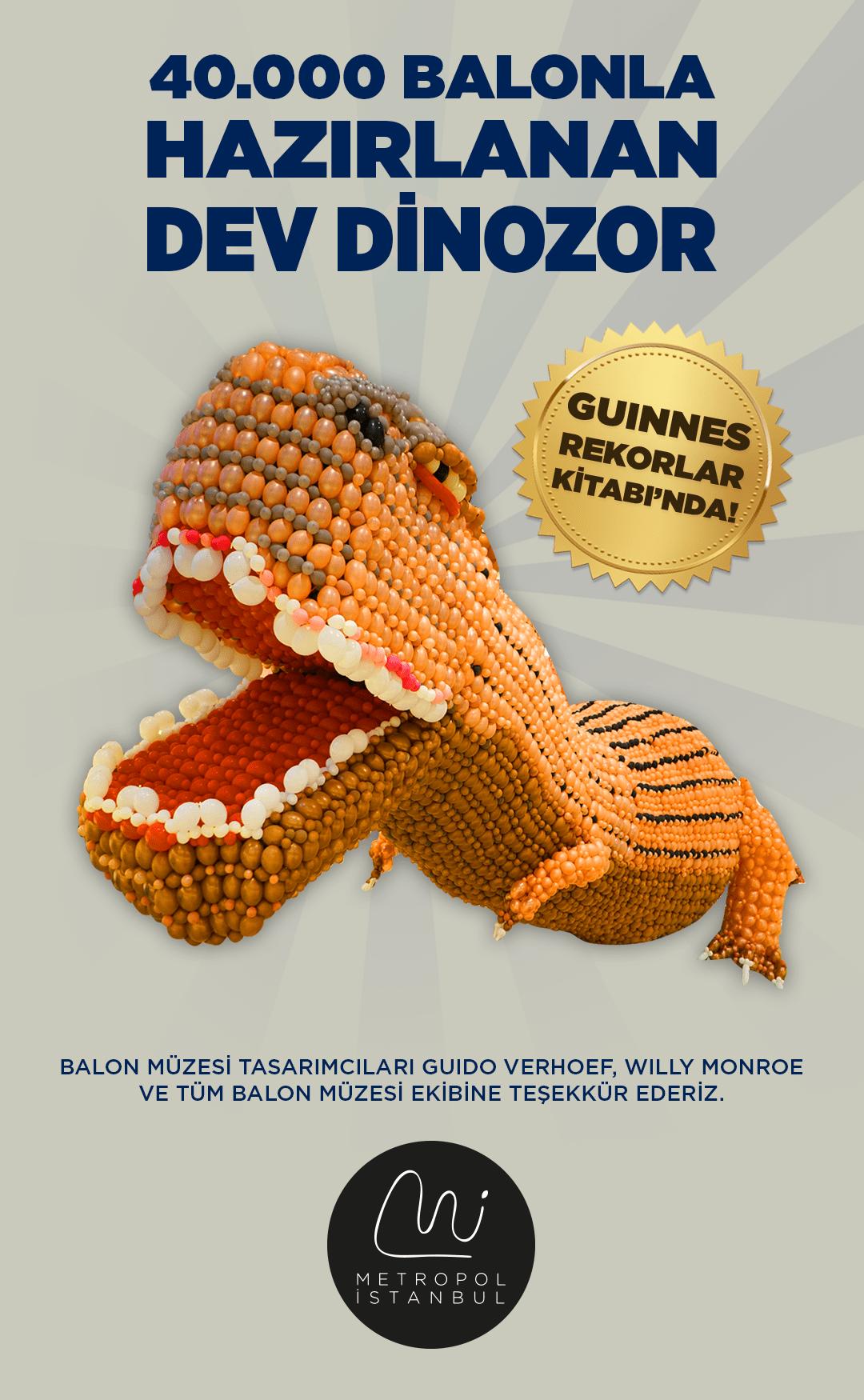 Dev Dinozor Guinness Rekorlar Kitabı'nda!