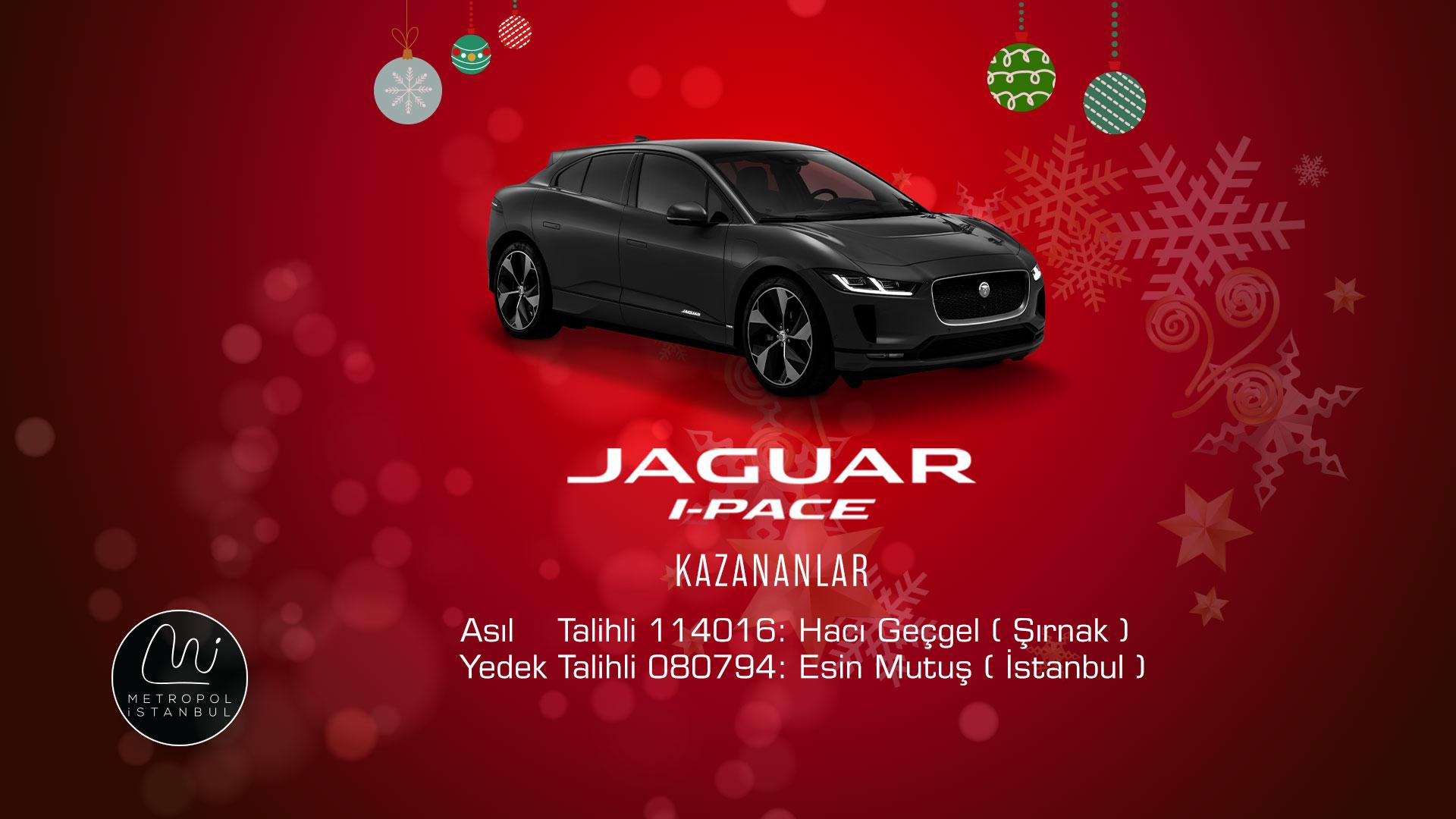 Metropol İstanbul, Jaguar I-Pace Kazandırdı!