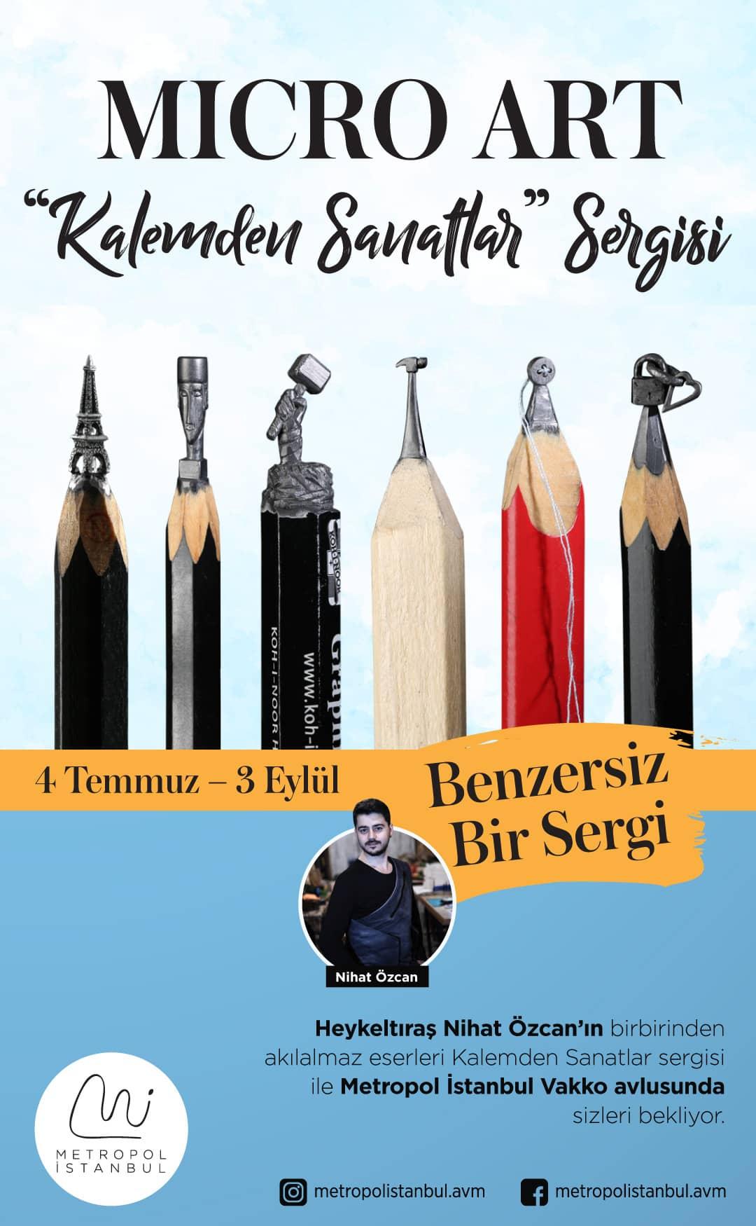 Metropol İstanbul'da Micro Art 'Kalemden Sanatlar' Sergisi Açıldı!