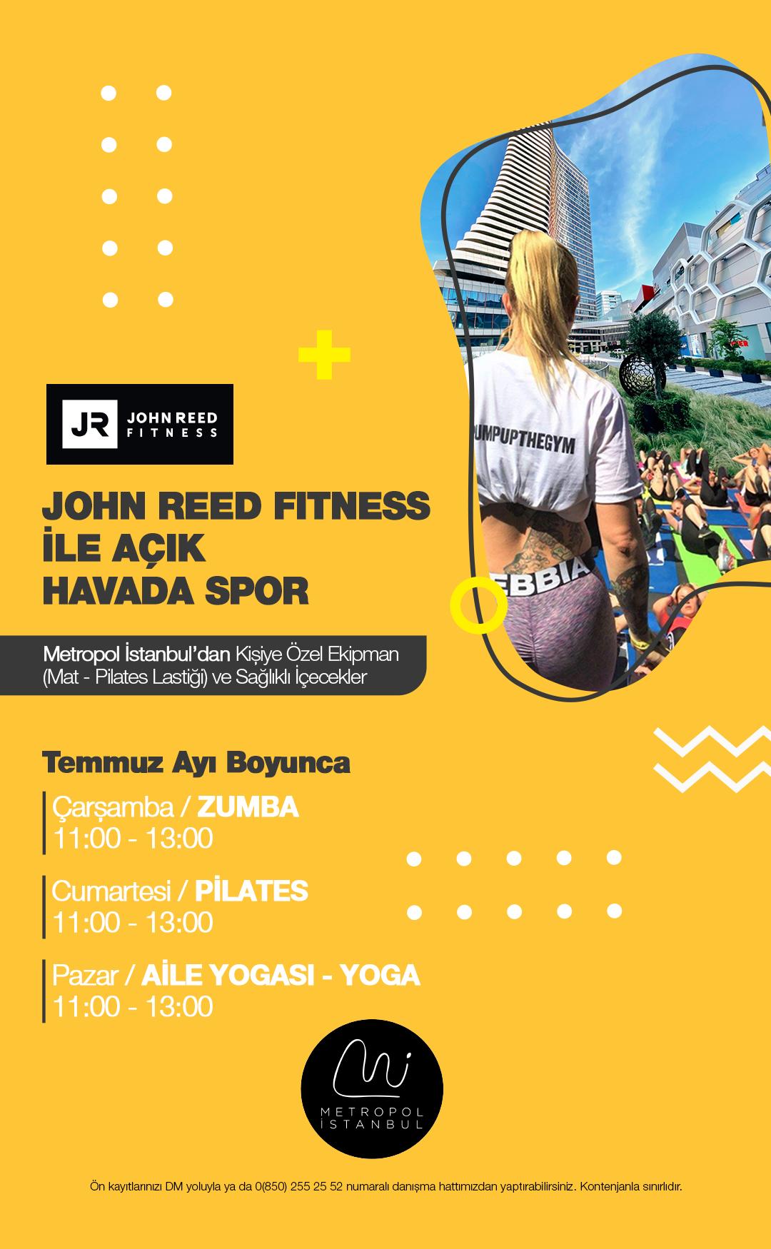 John Reed Fitness ile Açık Havada Spor!