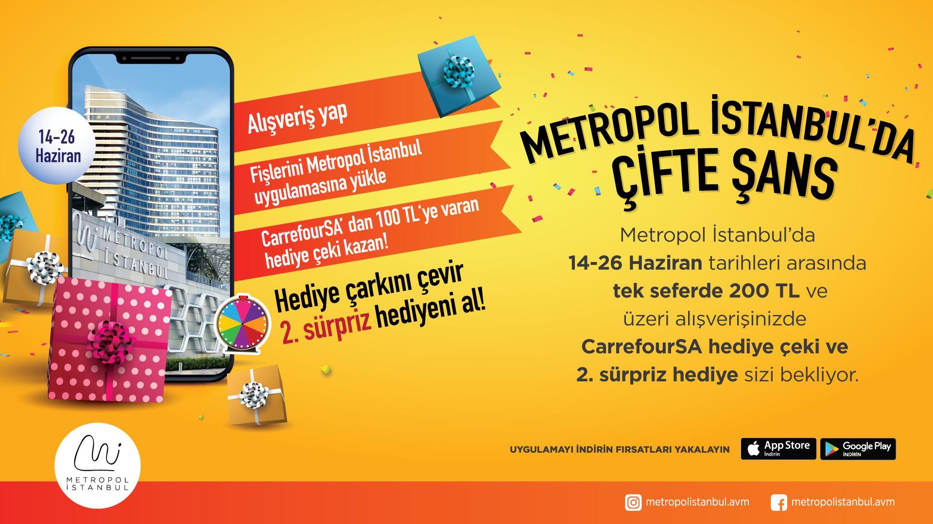 Metropol İstanbul'da Çifte Hediye Kazanma Şansı!